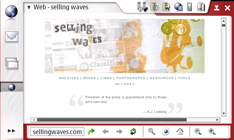 selling waves from the 770\'s browser